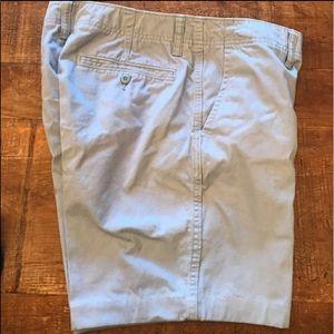 "Old Navy Gray/Light Blue 7"" Chino Shorts"